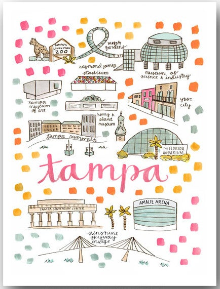 Image of Tampa, FL Map Print
