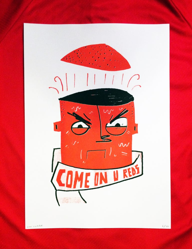 Image of 'Aggressive Encouragement' - A3 Risograph Print
