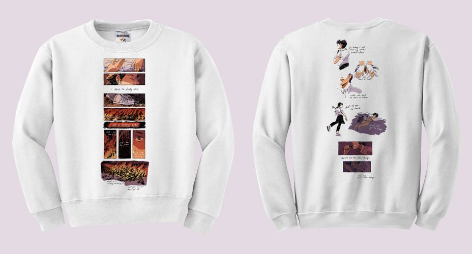 "Image of Mitski ""A Burning Hill"" Sweatshirt"