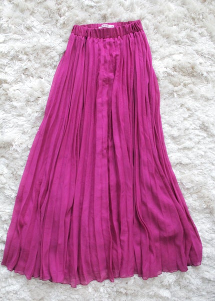 Image of Purple Chiffon Maxi Skirt
