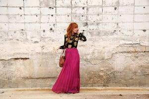 Image of Purple Chiffon Maxi Skirt