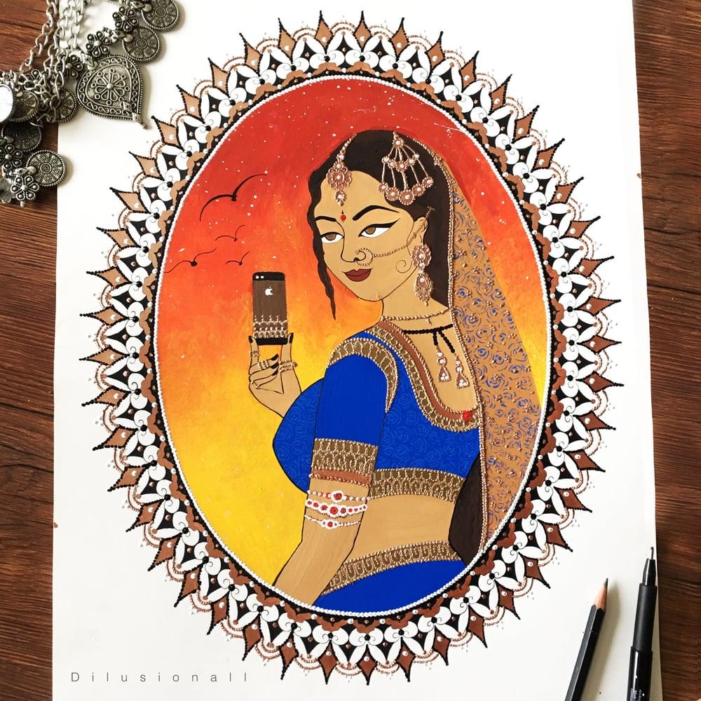 Image of Selfie Queen (2) ORIGINAL ART