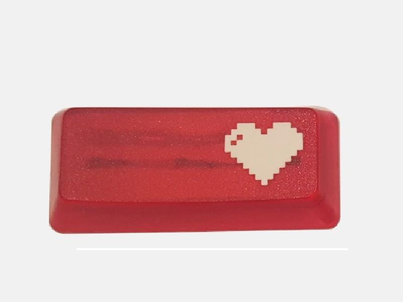 8-bit Heart Enter Keycap[Translucent Red Edition]