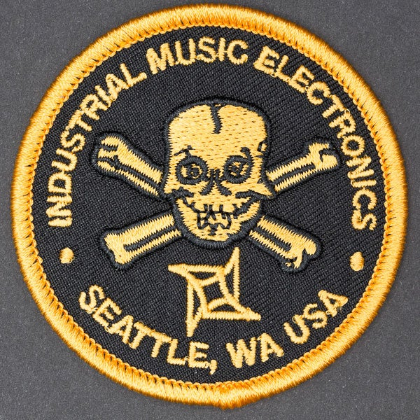 Image of Industrial Music Electronics logo patch