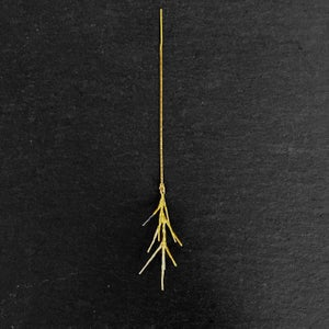Image of BRANCH CHAIN THREAD EARRING IN GOLD PLATED 925 SILVER