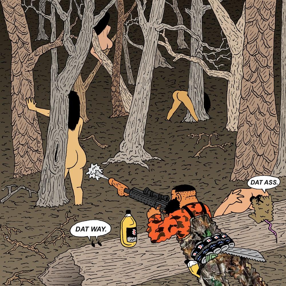 "Image of ""BOOTY HUNTER:SKEET SHOOTING"" PRINT"