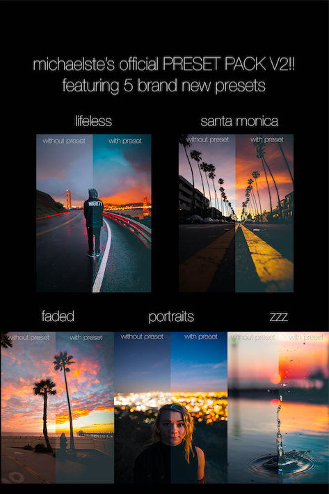 Image of MICHAEL STERIC PRESET PACK #2 - 5 PRESETS INCLUDED