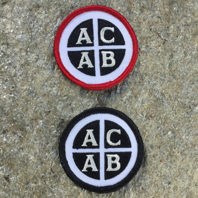 Image of Embroidered ACAB Iron On Patch