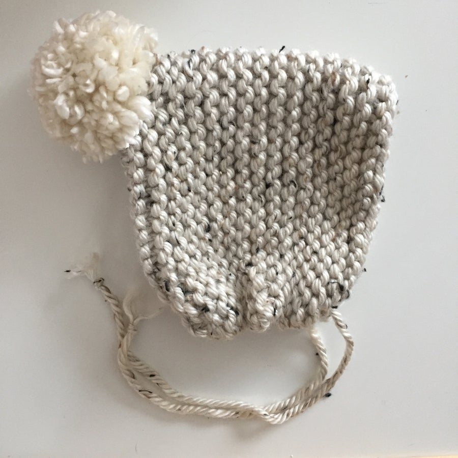 Image of oatmeal temperance pom bonnet