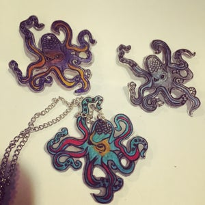 Image of Brutus octopus necklace.