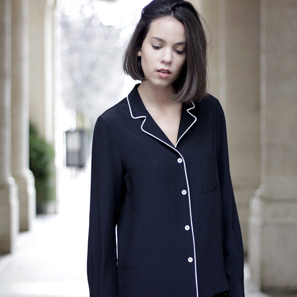 Blouse Pascale noire  - Maison Brunet Paris