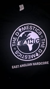 Image of THE DOMESTICS 'EAST ANGLIAN HARDCORE' T SHIRT (w/ BACKPRINT). NEW!!!!