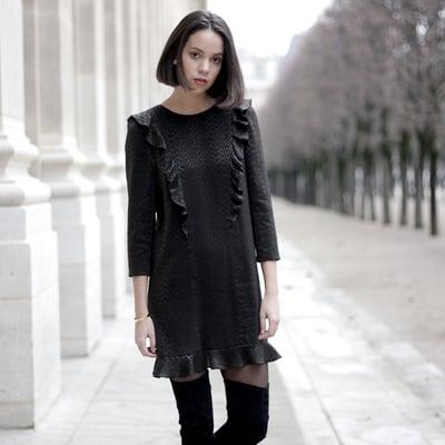 Robe Elena Jacquard - Maison Brunet Paris