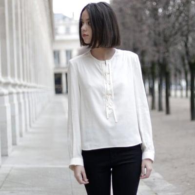 Blouse Sidonie écrue 145€ -50% - Maison Brunet Paris