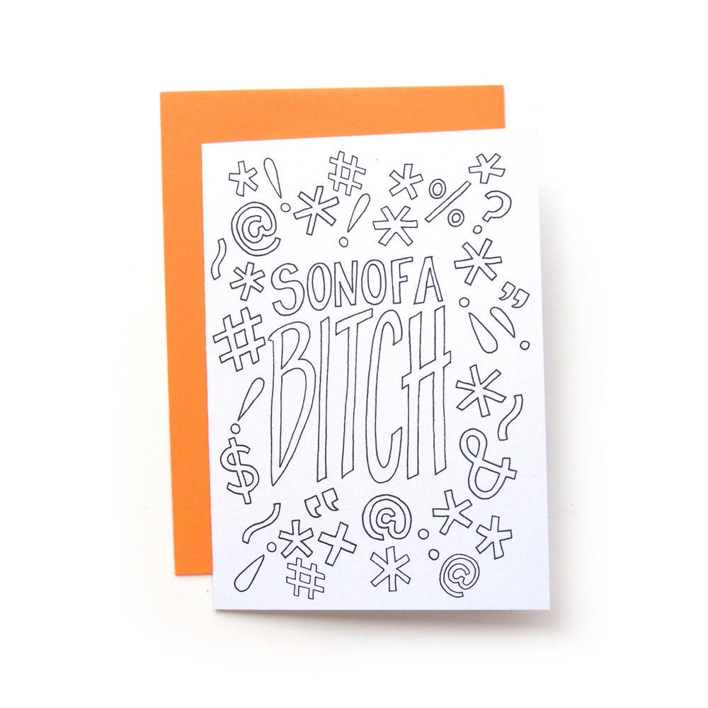 Image of Son of a Bitch Coloring Card