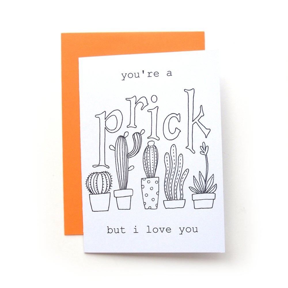 Image of You're a Prick Coloring Card