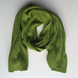 Image of Leaf Green Knit Wrap