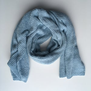 Image of Light Blue Knit Wrap