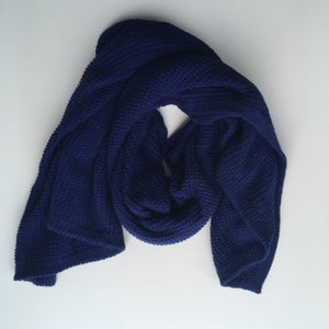 Image of Navy Blue Knit Wrap