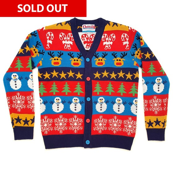 Image of Boxing Day Mash Up Christmas Cardigan