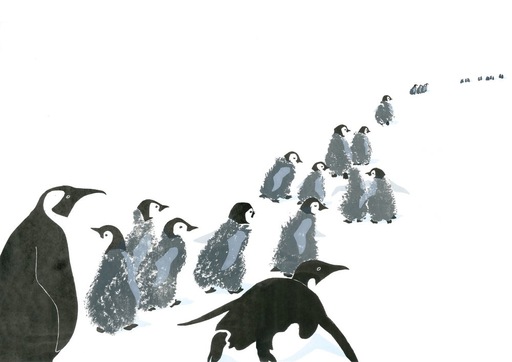 Image of Penguin March Print
