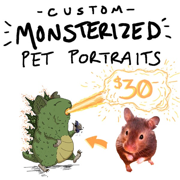 Image of 5x7 MONSTERIZED PET PORTRAIT