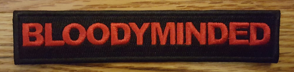 BLOODYMINDED Embroidered Patch
