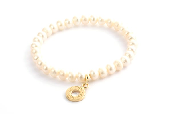 Image of Perlenarmband Venezia Gelbvergoldet