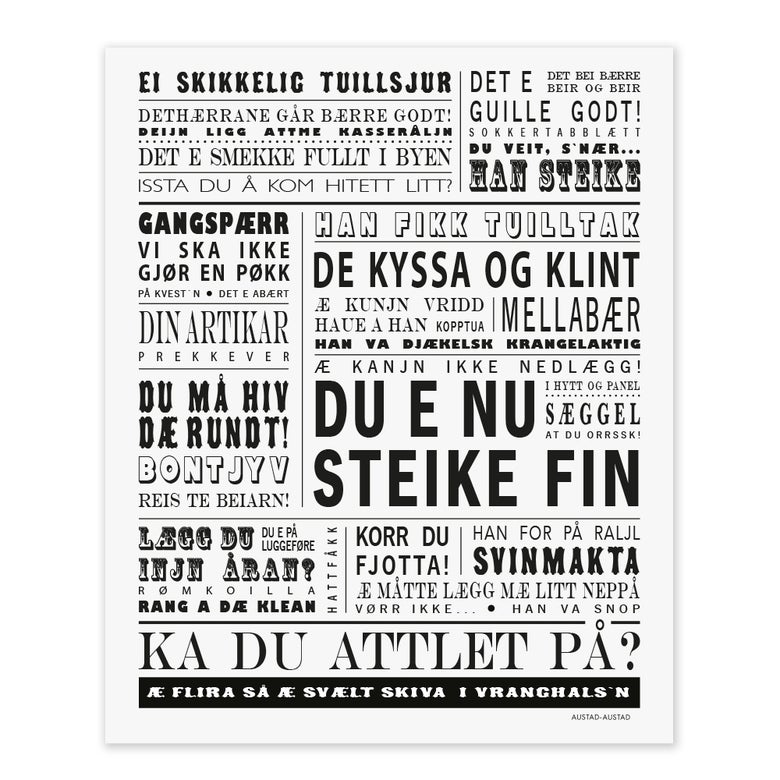 "Image of Bodø/Salten postkort ""Du e nu steike fin"""