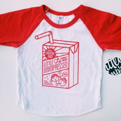"Image of ""100% Creative Juice"" Raglan Tee"