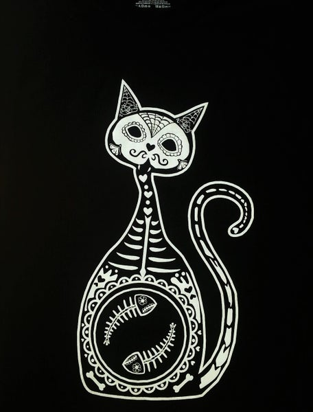 Image of Sugar Skull - Cat Day of the Dead Dios los Muertos