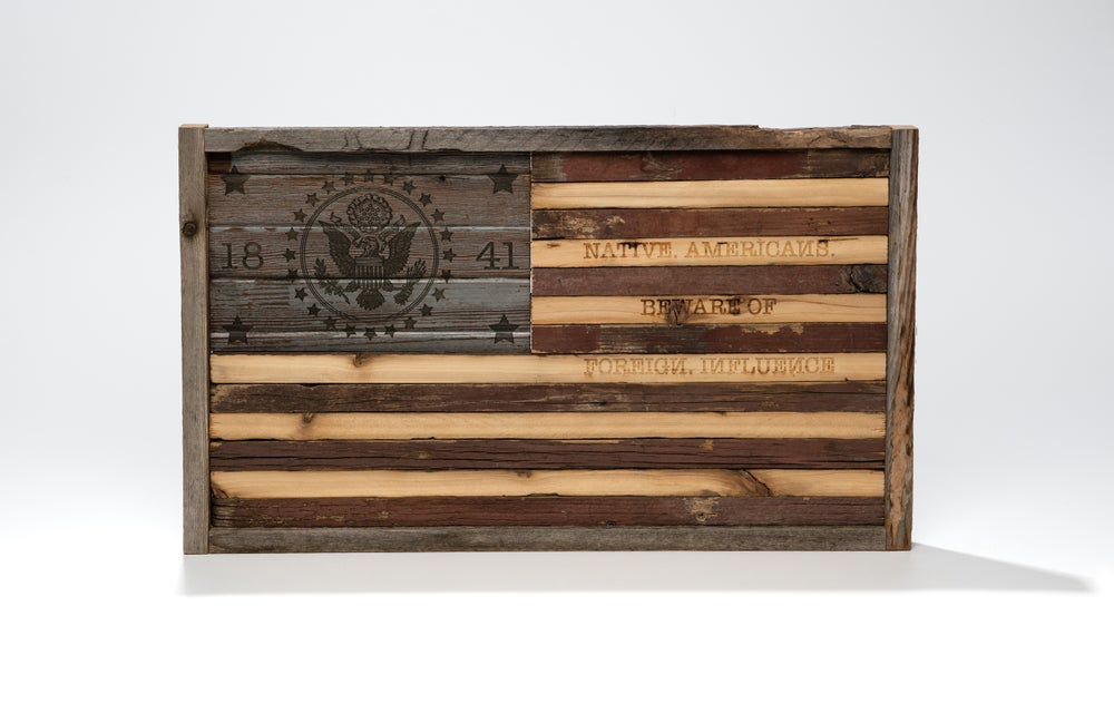 Image of Reclaimed wood flag