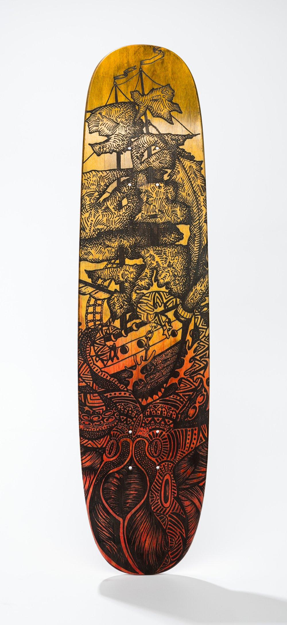 Image of kraken skateboard.