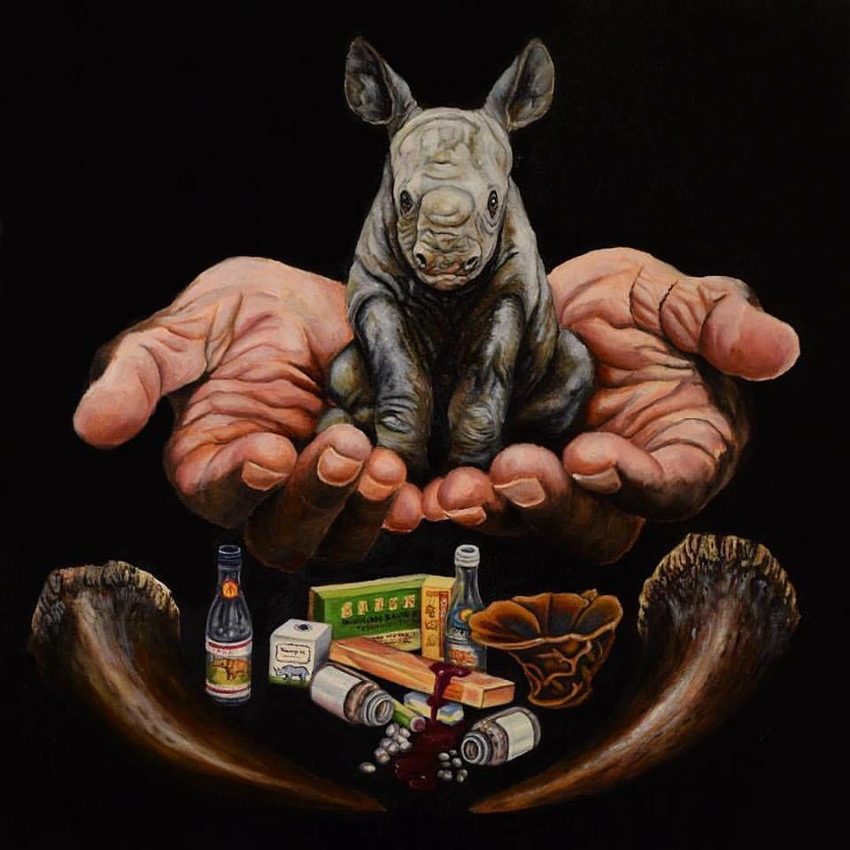 Image of In Our Hands - Rhinoceros [Limited Edition Museum Print]