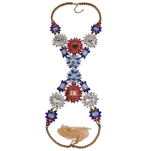 Image of Unapologetic Body Statement Necklace RED