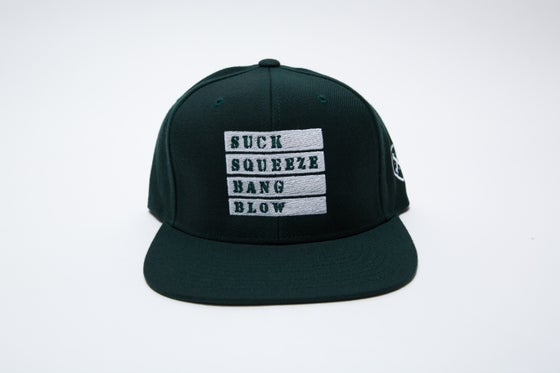 Image of Suck Squeeze Bang Blow Forest Green Snapback