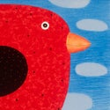 Red Canary with Ladybird Army 2016 - Lithograph