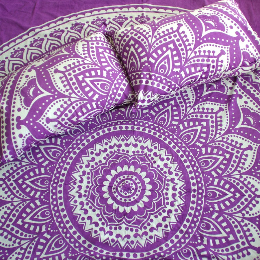 Image of Purple Haze Mandala Throw or Throw Set, from