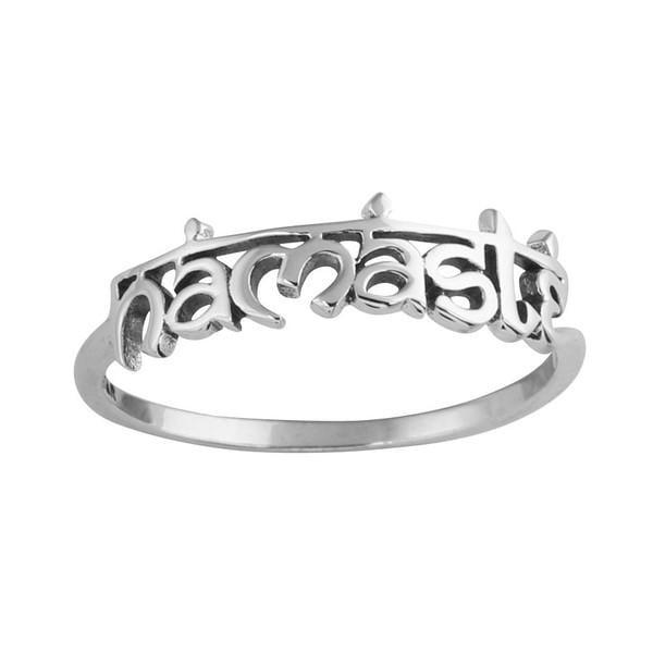 Image of Sterling Silver Namaste Ring