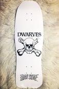 Image of The Dwarves - Skull & Cross Boners Logo Pool Skate Deck (Limited Edition)