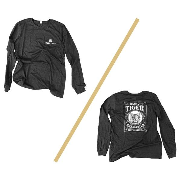 Image of Blind Tiger Longsleeve Shirt: Charcoal