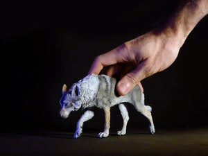Image of Wolf Dog sculpture, edition of 50