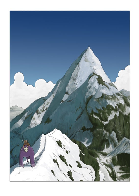 Untitled Ape's Epic Adventure - Mountain Poster by Steven Tillotson