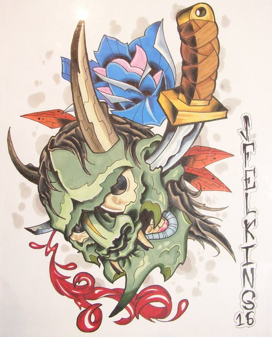Image of Hannya mask (print)