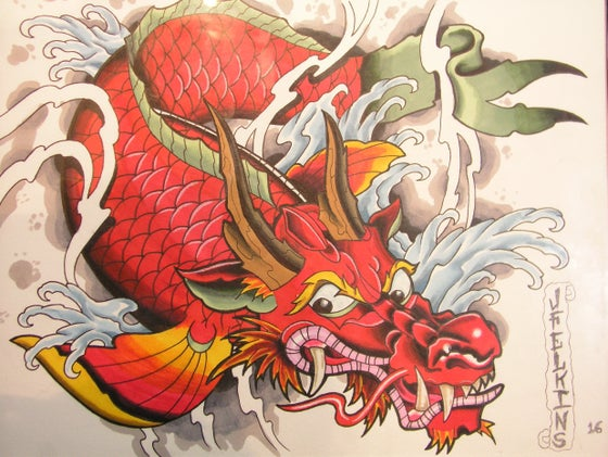 Image of Dragon Koi (print)