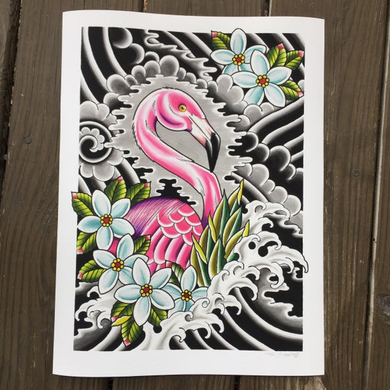 Image of 12x16 Flamingo