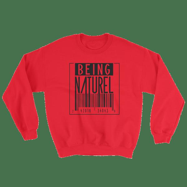 Image of Being Naturel Red Barcode Sweatshirt