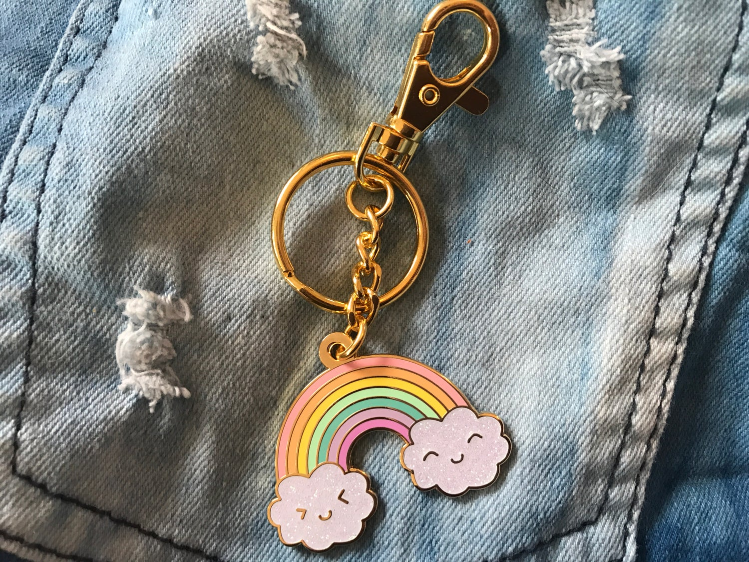 Image of Happy Rainbow Jumbo Bag Charm