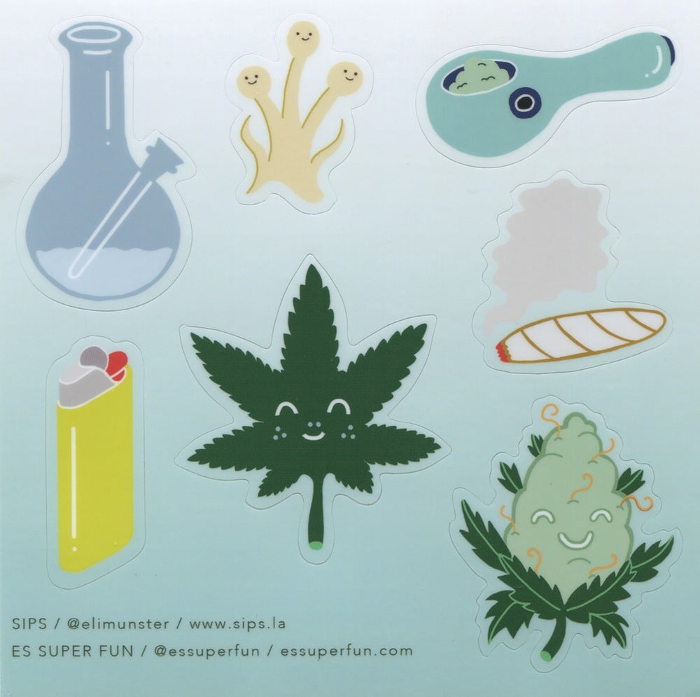 Image of Happy Bud & Friends / Sticker Sheet