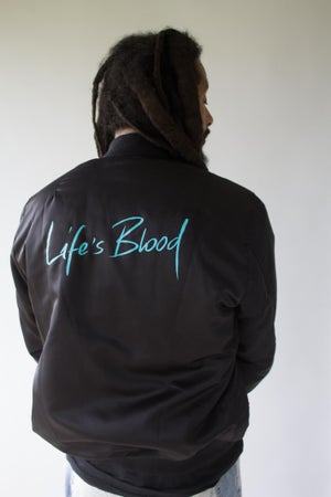 Image of Life's Blood Bomber Jacket Unisex